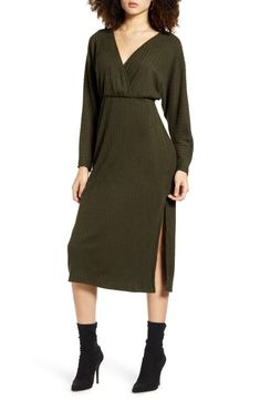 Shop a great selection of All In Favor Ribbed Long Sleeve Midi Sweater Dress. Find new offer and Similar products for All In Favor Ribbed Long Sleeve Midi Sweater Dress. Long Sleeve Sweater Dress, Gowns With Sleeves, Lace Sheath Dress, Nordstrom Dresses, Dresses Online, Cold Shoulder Dress, Dresses For Work, Clothes For Women, Sweaters