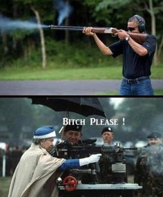 President Barack Obama VS Queen Elizabeth.  Anyone could beat him at anything.