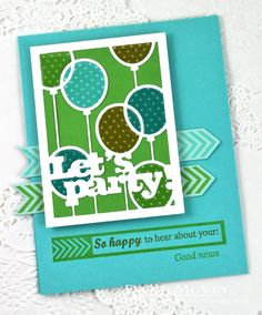 Good News Card by Dawn McVey for Papertrey Ink (January 2015)