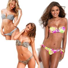 17348e095ace0 2019 PrettyBaby 2016 New Metal Sexy Deep V Swimwear Striped Leopard Floral Bikini  With Removable Padding Swimsuit Women Swimwears Bathing Suit From The one
