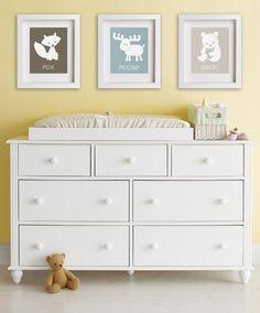 Baby's First Art Print - Bear 8x10 - Nursery Decor, Great Outdoors, Children Decor, Kids Art, Playroom Decor, Teddy Bear, Forest Animals. $14,95, via Etsy.