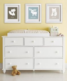 Bear Baby's Art Print - Modern Wall Decor For Kids Rooms, Nursery Art, Woodland…