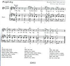 Písničky: Popěvky-zvířata | Výtvarná výchova Sheet Music