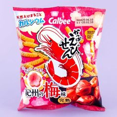 Calbee Kappa Ebisen Shrimp Snacks - Kishu Plum Japanese Snacks, Japanese Candy, Cheese Snacks, Savory Snacks, Milk Biscuits, Kawaii Cooking, Flavored Rice, Diy Donuts, Happy Kitchen