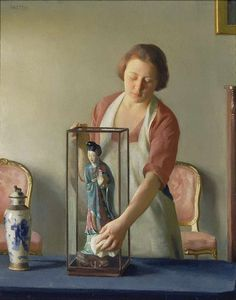 William McGregor Paxton art - with many paintings, commentaries and video http://designmuitomais.blogspot.com.br/2015/03/a-arte-de-william-mcgregor-paxton.html