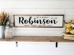 Custom Family Last Name Sign, Established Wood Sign, Rustic Home Decor, Wood Framed Canvas Sign, Las Thankful And Blessed, Grateful, Blessed Sign, Canvas Signs, Framed Canvas, Painted Canvas, Thanksgiving Signs, Last Name Signs, Painted Wood Signs