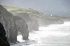 Coastal scene in Northern Ireland. (Photographed near the village of Bushmills, Northern Ireland on September 01, 2011)