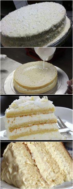 TORTA 4 LEITE,FICA SUPER FOFINHA DELICIOSA!! VEJA AQUI>>>Antes de tudo misture em uma xícara o fermento com o bicarbonato e reserve para usar no final Agora, bata muito bem as gemas, a água, o açúcar e o óleo, até formar um creme branco e dobrar de volume #receita#bolo#torta#doce#sobremesa#aniversario#pudim#mousse#pave#Cheesecake#chocolate#confeitaria
