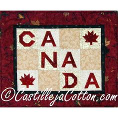 Ca_na_da Quilt Pattern via Craftsy Leaf Crafts, Fun Crafts, Canada Celebrations, Canadian Quilts, Quilts Canada, Canada Party, Quilt Of Valor, Quilting Projects, Quilting Ideas