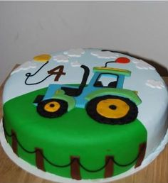 Traktorkuchen Best Picture For easy Birthday Cake For Your Taste You are looking for something, and it is going to tell you exactly what you are looking for, and you didn't find that picture. Digger Birthday Cake, Tractor Birthday Cakes, Birthday Cake For Him, 3rd Birthday Cakes, Tractor Cakes, Teen Cakes, Cakes For Boys, Healthy Birthday, Baking Cupcakes