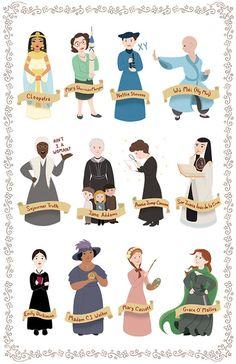 Women in History Posters Great Women, Amazing Women, Buch Design, History Posters, Intersectional Feminism, Feminist Art, Feminist Icons, Badass Women, Strong Women