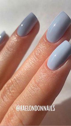 Squoval Acrylic Nails, Cute Acrylic Nails, Cute Nails, Shellac Nail Colors, Cute Simple Nails, Pretty Nail Colors, Nail String Art, Nail Art, Stylish Nails