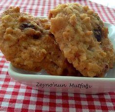 ::: Zeyno'nun Mutfağı :::: Yulaflı Kurabiye (Kuru Meyveli Ve Şekersiz )