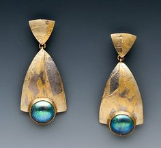 Marne Ryan Designs - Abalone Mabe Pear Earrings