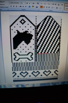 Knitted Mittens Pattern, Knit Mittens, Knitting Charts, Knitting Patterns, Crochet Patterns, Crochet Cross, Crochet Hats, Dog Chart, Maila