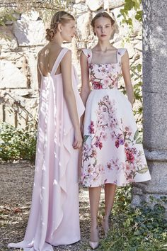 I have no idea which designer this is from as it is an untitled pin but I really like them especially the floral dress. Girl Fashion, Fashion Show, Fashion Dresses, Fashion Design, Short Dresses, Prom Dresses, Summer Dresses, Dress Skirt, Dress Up