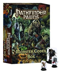 Pathfinder Pawns: Monster Codex Box by Paizo Staff. The humanoid legions of the Pathfinder RPG Monster Codex swarm across your tabletop in this massive collection of more than 300 creature pawns for use with the Pathfinder Roleplaying Ga me or any fantasy RPG! Printed on sturdy cardstock, each pawn contains a beautiful, full-color monster image and slides into a size-appropriate plastic base. Featured creatures include goblins, orcs, hobgoblins, bugbears, boggards, kobolds, ghouls…