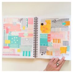 """217 Likes, 16 Comments - JULIE HAMILTON (@juliehamiltoncreative) on Instagram: """"Old journal pages and the reminder of how fun and inspirational it is to experiment with different…"""""""