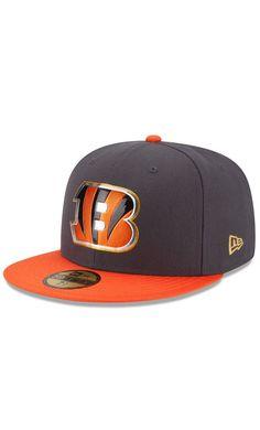 11b442c159c NFL Men s Cincinnati Bengals New Era Graphite Orange Gold Collection On  Field 59FIFTY Fitted Hat