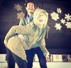 Julianne Hough & Ryan Seacrest skate at the Beverly Hills ice rink. Julianne shared these fun Instagrams!