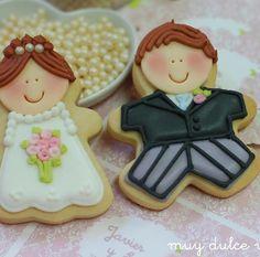 Biscoitos decorados para casamentos   Pronta para o sim