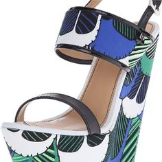 DSquared Verde blue cotone wedge Wedges