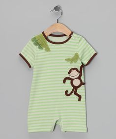 Silly, sweet and special: That's this rambunctious romper, and the smiling small fry who gets to wear it. Intricately stitched details capture the feeling of being a fun-loving kid, while soft cotton and easy-on snaps make it as practical as it is photo-op ready.100% cottonHand wash; hang dryImported