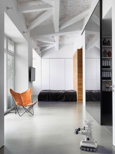 Interior Design Magazine--Bruzkus Batek Architekten designed a well-lit space with an exposed ceiling structure that nods to Berlin's industrial character for a photographer's loft in Kreuzberg. 📸: courtesy of the architects. Interior Design Magazine, Loft Interior Design, Interior Design Inspiration, Interior Architecture, Interior And Exterior, Interior Decorating, Design Bedroom, Design Ideas, Lofts