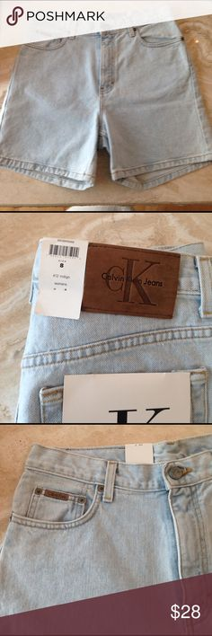 NWT Calvin Klein Jean Shorts, size 8 Brand new, perfect condition, Calvin Klein jean shorts, size 8. 5 pocket.  From smoke free and pet free environment. Calvin Klein Jeans Shorts Jean Shorts