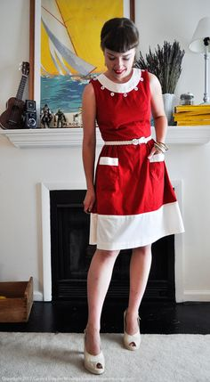 06.15.12 BurdaStyle Sewing Handbook dress variation (published in the book with full instructions)   via Elegant Musings.