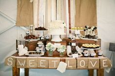 rustic desserts - Let Piquant help with your dessert table plans.