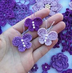 Crochet butterfly pattern by bautawitch – Artofit You can find more step by step here: Crochet flowers No photo description available. Crochet Butterfly Free Pattern, Crochet Birds, Crochet Diy, Crochet Motifs, Crochet Flower Patterns, Crochet Crafts, Crochet Flowers, Crochet Projects, Knitting Patterns