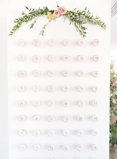 The hottest wedding trend! Inspiring Doughnut Walls to Make Your Mouth Water! see them all on www.onefabday.com