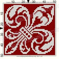 Gallery.ru / Фото #216 - Le Filet Ancien VII - gabbach Cross Stitch Owl, Cross Stitch Flowers, Cross Stitch Charts, Cross Stitch Designs, Cross Stitch Patterns, Bead Crochet Rope, Thread Crochet, Embroidery Stitches Tutorial, Embroidery Patterns