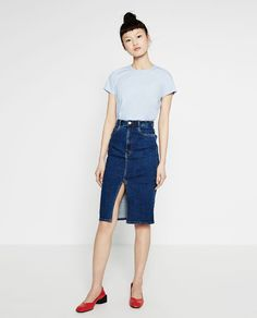 ZARA - COLLECTION AW16 - DENIM MIDI SKIRT