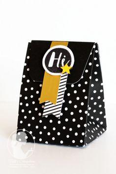 """Nellis Stempeleien:  Geschenkverpackung aus einer Karte aus dem Kartenset """"Gute Laune Grüße. Anleitung auf meinem Blog :)   Oh happy Day Card Kit, Stampin UP"""