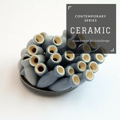 #contemporaryseries  Ceramic Clay can be moulded and coloured to an endless array of forms and colours making it a versatile material for use in jewellery…just don't drop it!  #ceramic #jeweller #jewellery #ring #bracelet #bangle #necklace #chain #pendant #earrings #brooch #silver #jaachapter2015challenge #page334of365  Image: Peter Hoogeboom, 'North Sea brooch', fused ceramics and silver