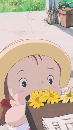 Studio ghibli,my neighbor totoro,hayao miyazaki Art Studio Ghibli, Studio Ghibli Movies, Walpapers Cute, Cute Art, Cute Cartoon Wallpapers, Animes Wallpapers, Chihiro Y Haku, Tamako Love Story, Japon Illustration