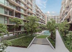 The Parque Condominium Courtyard by Tectonix Landscape on Behance #landscapearchitecturecourtyard