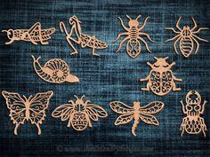 fairy  Scroll Saw Patterns | SLDK362 - 10 Filigree Garden Critters