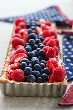A Bountiful Kitchen: Red, White and Blueberry Tart