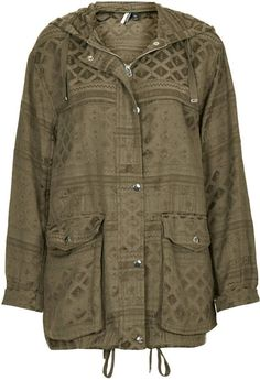 Pin for Later: Everything You Need to Heat Up Your Style This July Topshop Jacquard Tencel Parka Jacket