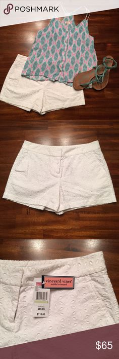 """Vineyard Vines shorts White cap eyelet lace shorts from Vineyard Vines.  The perfect shorts for a beach getaway, or any day!   Just adorable!   3"""" inseam. Vineyard Vines Shorts"""