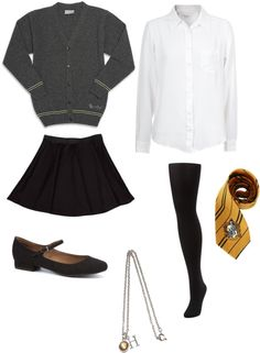 """Hufflepuff House Uniform"" by cangelsookra on Polyvore"