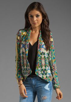 TWELFTH STREET BY CYNTHIA VINCENT Shawl Collar Blazer in New Jacobean - Jackets & Coats