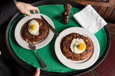 What to do with the leftover prime rib? Manhattan's Keens Steakhouse Prime Rib Hash.