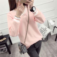 Zafraa Pink Knitted Solid Sweatshirt