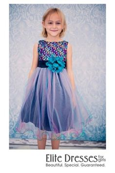 A Sequin Gown Any Girl Would Love for Her Special Event This stunning gown has a sparkly multicolored sequin bodice that will make her shine. Sizes 2-14 Up to 45% off retail DKD327TB