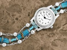 Rain Chain Watch Band Tutorial -- up-cycle old watches with new beads, old chains, etc! Wire Jewelry, Jewelry Crafts, Beaded Jewelry, Jewelery, Handmade Jewelry, Textile Jewelry, Bead Crafts, Custom Jewelry, Jewelry Ideas