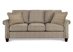 """Bree Sofa Style Number: 406 Cover Type: Fabric Cover Color: Nickel (C107751) Pillow Cover Color: Slate (G113953) Product Dimensions as shown: Overall : 38.00"""" H x 87.75"""" W x 39.00"""" D Seat : 21.50"""" H x 69.75"""" W x 22.00"""" D"""